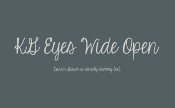 KG Eyes Wide Open Font Family Free Download