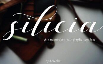 Silicia Script Font Family Free Download