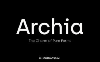 Archia Font Family Free Download