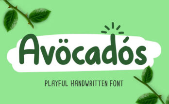 Avocados Font Family Free Download