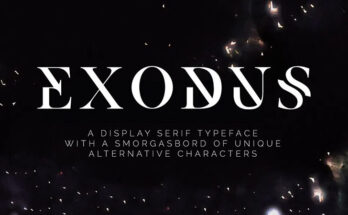 Exodus Font Family Free Download