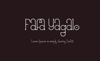 Fafa Yagalo Font Family Free Download