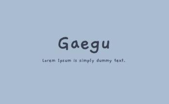 Gaegu Font Family Free Download