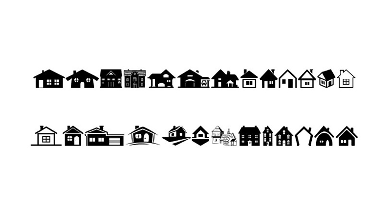 House Icons Font Family Download