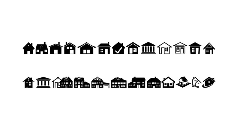 House Icons Font Free Download