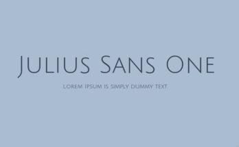 Julius Sans-One Font Family Free Download