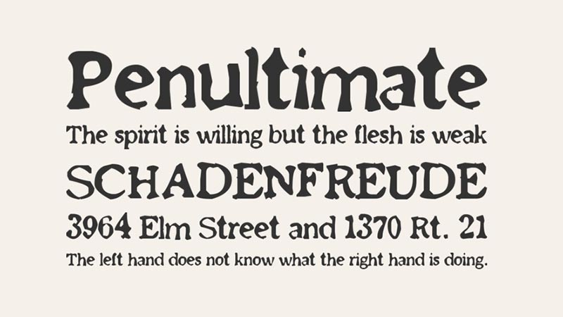 Old Newspaper Font Family Download