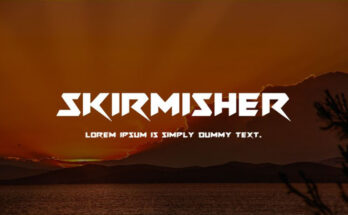 Skirmisher Font Family Free Download