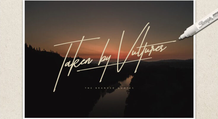 Taken By Vultures Font Family Free Download