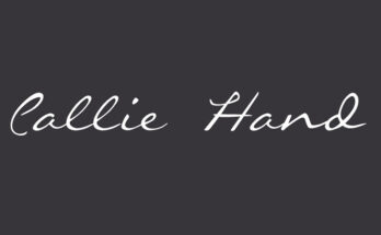 Callie Hand Font Family Free Download