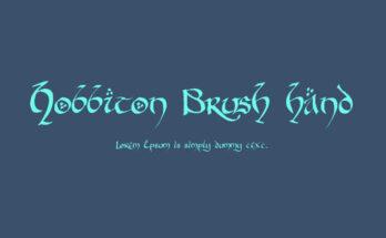 Hobbiton Brush Hand Font Family Free Download