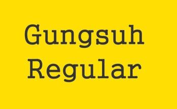 Gungsuh Font Family Free Download